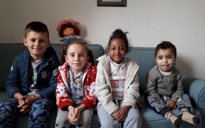 Bambini ospitati presso la Casa dei Bimbi di Cosmohelp