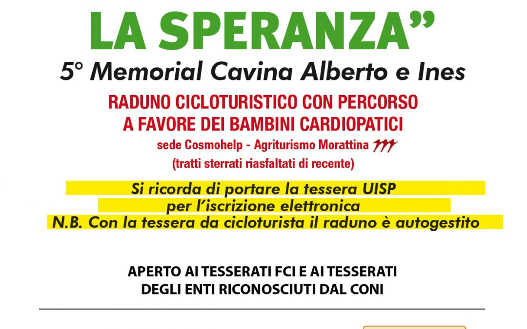 5° Memorial Cavina Alberto e Ines